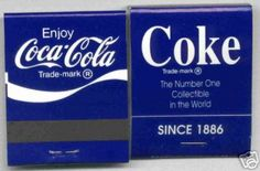 Rare Blue Coca-Cola Matchbooks