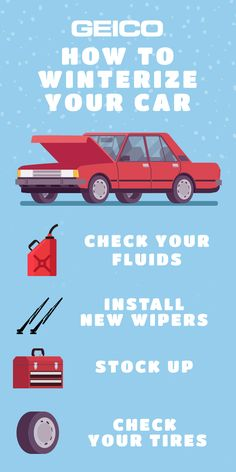 See the full article on GEICO More. #winterchecklist #winterizeyourvehicle #carmaintenance