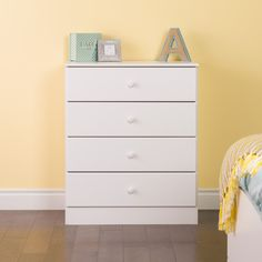 Astrid 4-Drawer Dresser, White                          – Wholesale Furniture Brokers