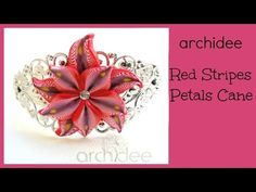 Tutorial | Polymer Clay | Red Stripes Petals Millefiori Cane | Murrina | DIY - YouTube