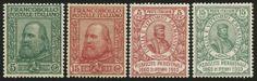 lotto 612 - Regno d'Italia - Vitt. Emanuele III - Garibaldi serie 4 val.