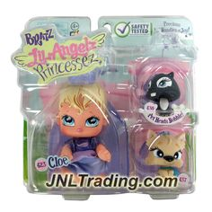 MGA Entertainment Bratz Lil Angelz Princessez Series 4 Inch Doll with 2 Pets Set - CLOE (#423), Black Squirrel (#430) and Scottish Terrier Dog (#437)
