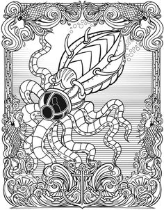 Welcome To Dover Publications Creative Haven Steampunk Devices Coloring Book Pattern