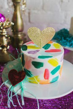 ban.do inspired wedding cake