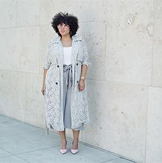 Lace trench and culottes!