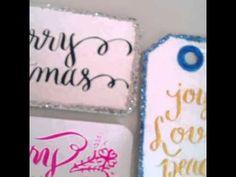 Calligraphy Christmas Tags