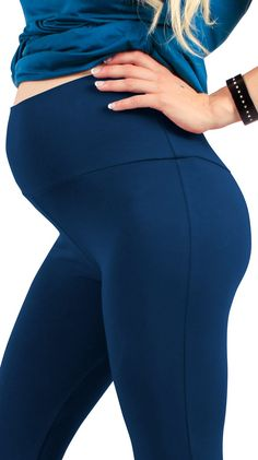 39223e99d71 pregnancy workout - Maternity Leggings Soft Cotton Belly Band for All  Pregnant Woman Made in Italy