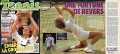 From the issue of August 1988 of Tennis Magazine a special report on Stefan #Edberg's first #Wimbledon title by Guy Barbier. 10 pages + tournament singles draw.