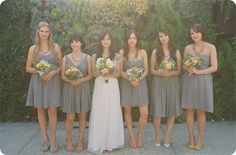Look at the shoes...Image detail for -grey bridesmaid dresses