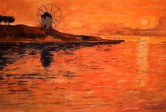 Greek Landscape Sunset