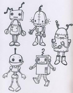 Výsledek obrázku pro robots sketches