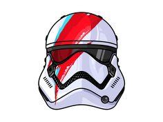 David Bowie Tr 8r Stormtrooper by Aleksandar Savic #Design Popular #Dribbble #shots