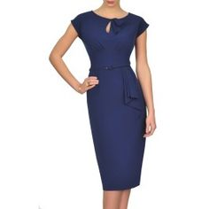 The Rita Dress in Navy Blue is a true beauty. Made famous by Holly Willoughby when she wore the green Rita dress on ITV's This Morning, the Rita Dress is a beautiful fit for women with a bigger bust. www.SaintBustier.com