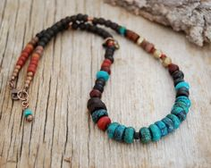 boho necklace  gypsy necklace  hippie jewelry by OmSaha on Etsy, $60.00