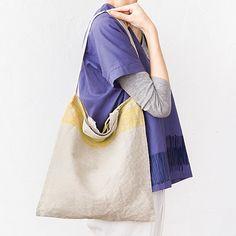 今日の気分の柄をさらっと携えて。|テキスタイルデザイナー 伊藤尚美さんと作った 毎日使いたい綿麻レッスンバッグ