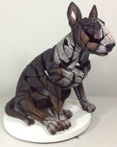 Bull Terrier Sitting Tri-Colour: Amazon.co.uk: Kitchen & Home