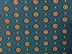 Fish Eyes Choc & Turquoise H0767 CW71. Worldwide shipping available at http://www.meerkatshweshwe.com/