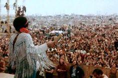 Jimi Hendrix at Woodstock in 1969:Festival music Woodstock end the hippie era