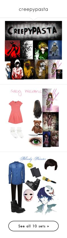 """""""creepypasta"""" by chaoticduck ❤ liked on Polyvore featuring art, European Culture, Gund, KitchenAid, maurices, KURO, The Gigi, Timberland, Universal and men's fashion"""