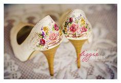 zapatos para novia pintados a mano y personalizados | Figgie Shoes