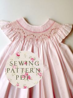 Love, love, love!!! The Charming Bishop Dress 1 year old - Sewing PDF Pattern - How to Make - Upbringing Dress One Size