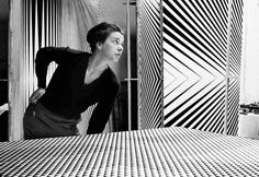Bridget Riley is an abstract painter who came to prominence in the American Op Art movement of the 1960s, after her inclusion in the 1965 exhibition