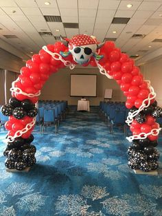Pirate Party Decorations, Pirate Decor, Balloon Decorations Party, Pirate Theme, Birthday Balloons, Birthday Party Themes, Balloon Lanterns, Happy First Birthday, Pirate Birthday
