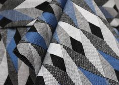 887f68aed8f Geometric Diamonds Double Knit Ponte Roma Jersey Dress Fabric Material  (Blue)