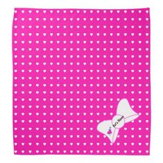 Hearts Abound Pet Hot Pink Bandana - valentines day gifts love couple diy personalize for her for him girlfriend boyfriend