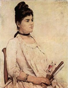 Giovanni Fattori - Portrait of the stepdaughter 1889