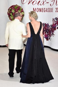 Princess Charlene of Monaco and Prince Albert II of Monaco attend the 66th Monaco Red Cross Ball Gala at Sporting Monte-Carlo on 01 August 2014 in Monte-Carlo, Monaco