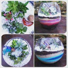 Terrarium Garden Succulents Arte Decoração. Terrários Personalizados - JARDIM EM VIDRO 😁✌🌵😄🍀  Já curtiu a página?  Facebook.com/jardimemvidro  Insta: @jemvidro segue lá ;)