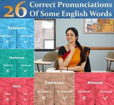 26 Correct Pronunciations Of Some English Words