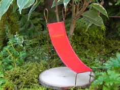 Fairy Garden accessories miniature slide red for terrarium or mini garden furniture playground