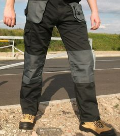 be4b3be5cb 2 x Blackrock Workman Work Wear Trousers *FREE KNEE PADS* Cargo Combat Pants