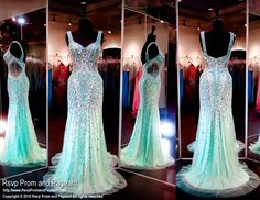 Teal/Nude Mermaid Evening Gown-Sparkling Crystals-Straps-116EC0162060 at Rsvp Prom and Pageant, your source for the hottest 2016 prom and pageant dresses!