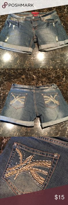 Cute embellished shorts! Cute embellished shorts! Brand is red rivet. Levi's Shorts Jean Shorts