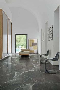 - Floors - Porcelain stoneware flooring with marble effect STONES & MORE by Casa dolce . Porcelain stoneware flooring with marble effect STONES & MORE by Casa dolce casa - Casamood. Granite Flooring, Granite Tile, Stone Flooring, Granite And Marble, Concrete Floors, Laminate Flooring, Marble Interior, Interior Design, Marble House