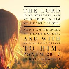 Psalm 28:7 - Because you are strong!