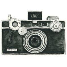 vintage camera watercolor giclee art print // ARGUS // 8X10 print - home decor -- wall art