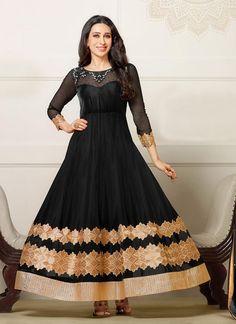Black Karisma Kapoor #Georgette #Anarkali