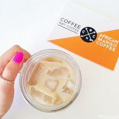 Follow us on Instagram @coffeenotcoffee www.coffeenotcoffee.com.au African Mango Iced Coffee