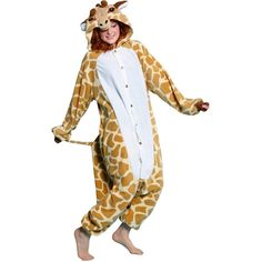 BCozy Giraffe Adult Costume ($45) ❤ liked on Polyvore featuring costumes, halloween costumes, giraffe costume, party halloween costumes, adult costumes, adult halloween party costumes and adult halloween costumes