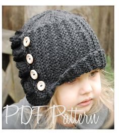 Knitting PATTERNThe Paisley Cloche' Toddler by Thevelvetacorn, $5.50