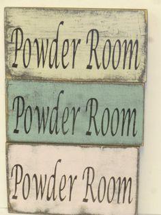 CUSTOM SIGN ORDER / Custom Powder Room Sign For Katiekates18
