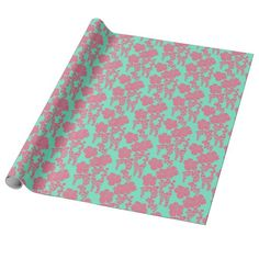Japanese Floral Print Wrapping Paper   #gifts #flowers #japaneseprint #pattern #newparklane #giftwrapping