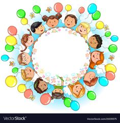 Round banner with fun kids place for your text vector image on VectorStock Free Vector Images, Vector Free, Fun Places For Kids, Children Holding Hands, School Border, Crafts For Kids, Arts And Crafts, English Worksheets For Kids, Banner