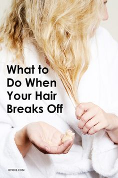How to repair breaking hair