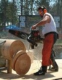 The Lumberjack World Championships in Hayward, Wisconsin.
