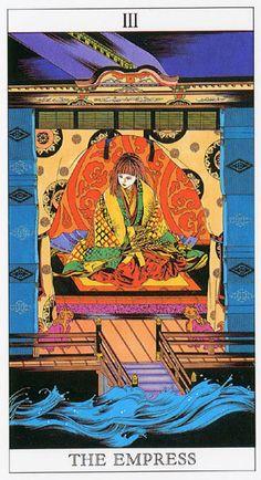 Love and Mystery Tarot by Yoshitaka Amano: The Empress